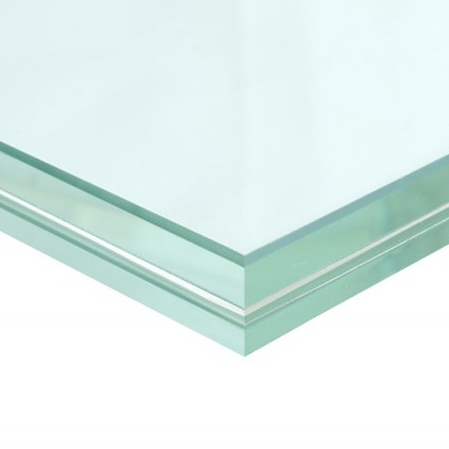 Buy Glass image of 33.04mm Low Iron Toughened Laminated Glass with free delivery